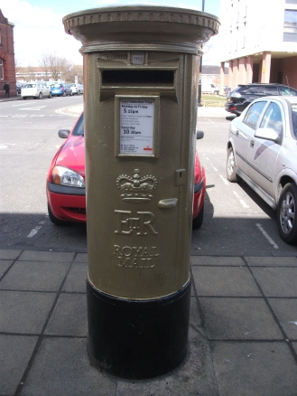 Gold post box, Jarrow for Josef Craig