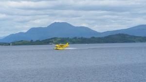 loch lomond scotland water plane landing