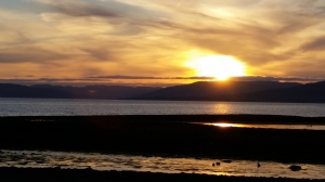 sunset largs ayrshire scotland