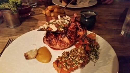 Half Beer Roast Chicken with Maple Roasted Butternut Squash, Spiced ...
